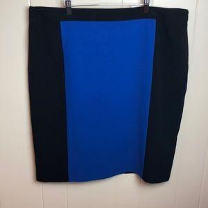 Dress Barn Color Block Career Pencil Skirt